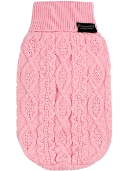 Cable Knit Sweater Blush Pink