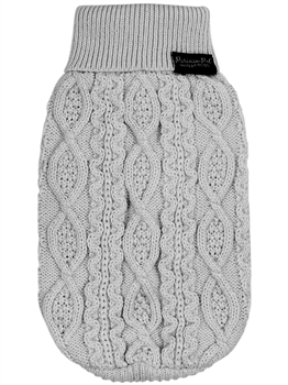 Cable Knit Sweater Cloud Gray