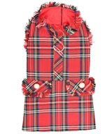 Tartan Fringe Dress Red