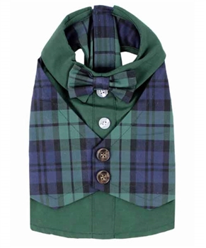 Scottish Tuxedo Green Plaid