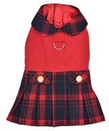Scottish Pleated Dress Red Plaid