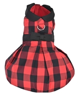 Buffalo Checkered Taffeta Dress Red
