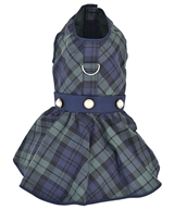 Scottish Taffeta Dress Green Plaid