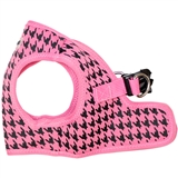 step-in pink houndstooth