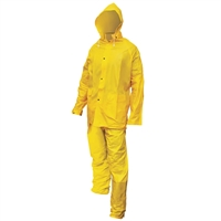 Heavy-Duty PVC/Polyester Rain Suit - Large