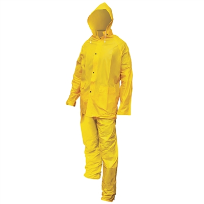 Heavy-Duty PVC/Polyester Rain Suit - Medium