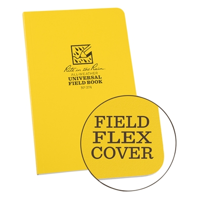 All-Weather Soft Cover Notebook #374 Yellow