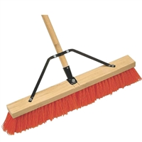 "24"" Stiff Push Broom with Brace"