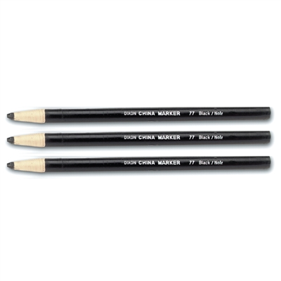China Marker Pencil - Black - 12-Pack