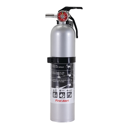 GRAY Fire Extinguisher - 1A:10B:C