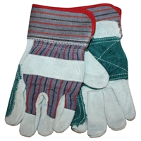 Double Leather Palmed Gloves - Small - Each