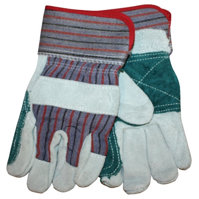 Double Leather Palm Gloves - Small - 12-Pack