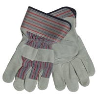 Leather Palm Gloves - Large