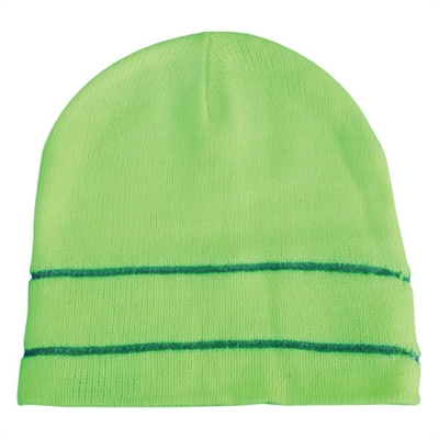 Knit Beanie Hi Visability Lime