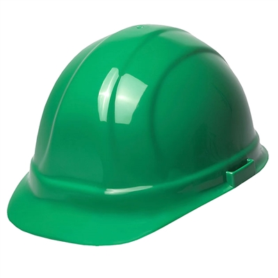 Hard Hat 6-Point Suspension with Ratchet Green