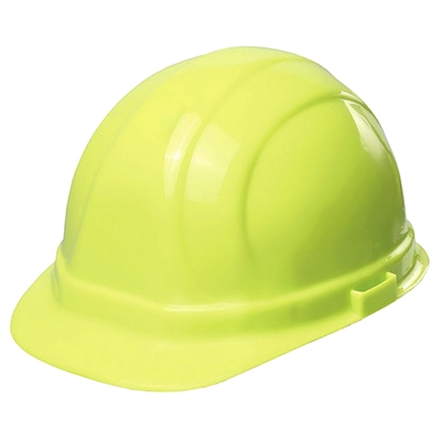 Hard Hat - 6-Point Suspension with Ratchet - Hi-Vis Lime