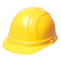 Hard Hat - 6-Point Suspension with Ratchet - Yellow