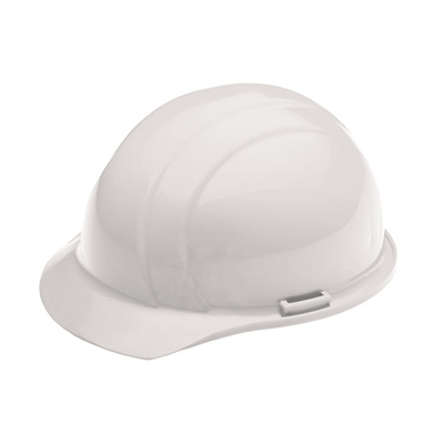 Hard Hat - 4-Point Suspension - White