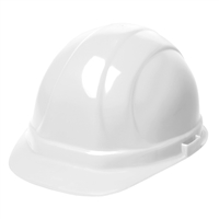 Hard Hat - 6-Point Suspension with Ratchet - White