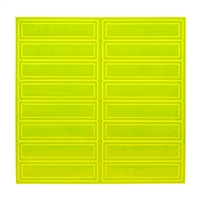 Reflective Adhesive Strips - Lime