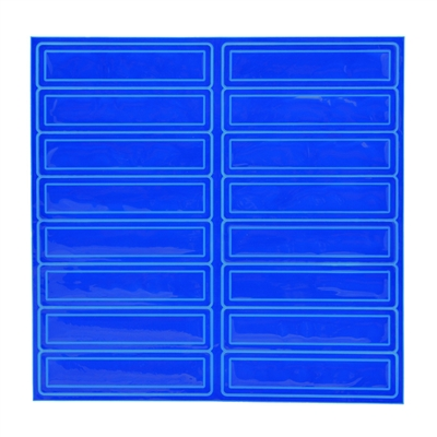 Reflective Adhesive Strips - Blue