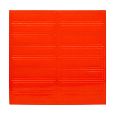 Reflective Adhesive Strips - Red/Orange