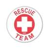 Hard Hat Emblem Rescue Team