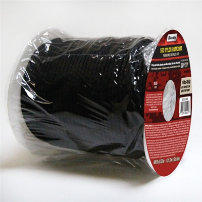 550 Paracord Black 400 Ft. Roll