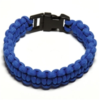 550 Paracord Survival Bracelet - Blue Large