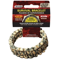550 Paracord Survival Bracelet - Camo Medium