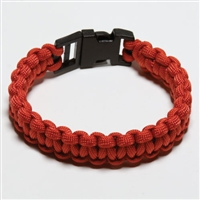 550 Paracord Survival Bracelet - Red Medium