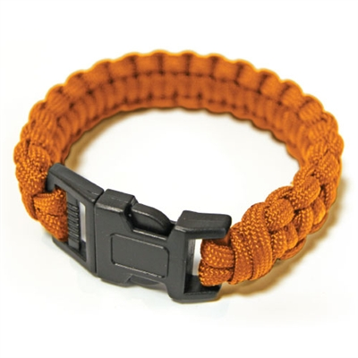 550 Paracord Survival Bracelet - Orange Medium