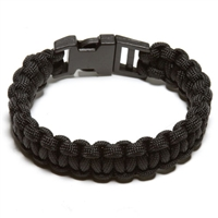 550 Paracord Survival Bracelett - Black Small