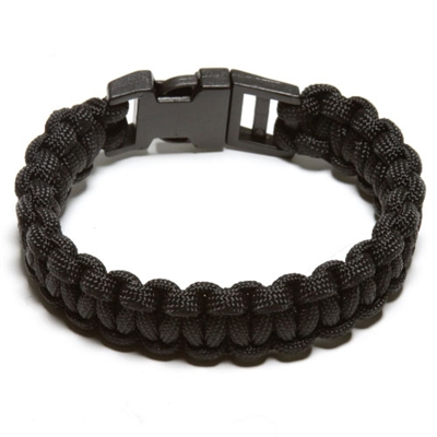 550 Paracord Survival Bracelet - Black Small