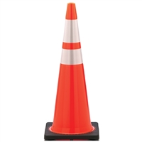 Traffic Cone with Reflective Stripes - 36""