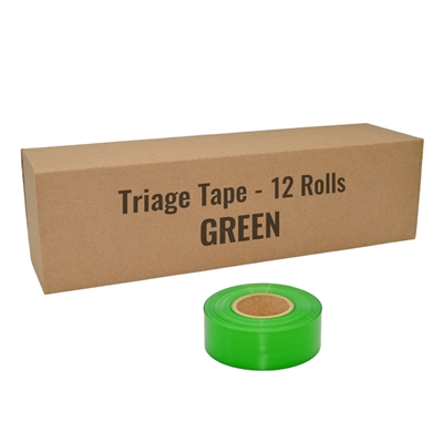 Triage tape green 12 pack