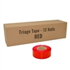 Triage tape red 12 pack
