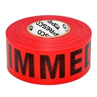 Triage Tape IMMEDIATE Red 300 ft