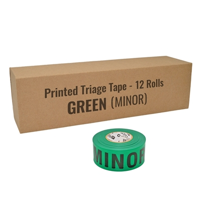 Triage Tape MINOR Green 12 Pack