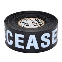 Triage Tape DECEASED Black 300 ft