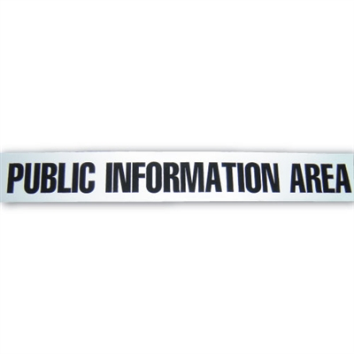 Public Information Area Tape - 1,000' - White