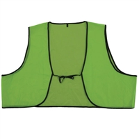 Plastic Safety Vest - Hi-Vis Lime