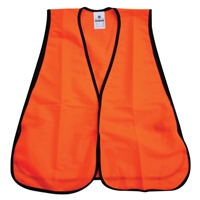 Fine Mesh Safety Vest - Hi-Vis Orange