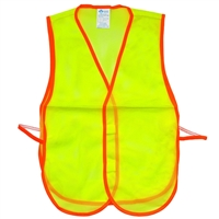 Fine Mesh Safety Vest - Hi-Vis Lime