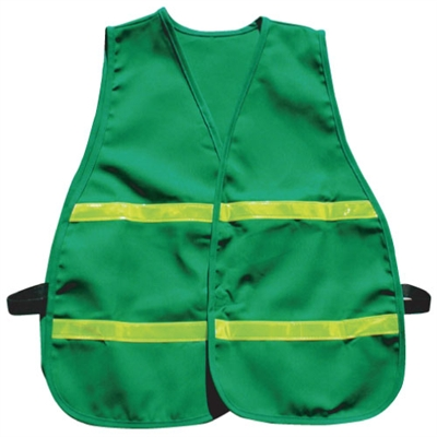 Cloth Safety Vest - Green with Horizontal Stripes