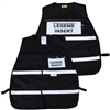 ICS Black Cloth Safety Vest with Reflective Stripes