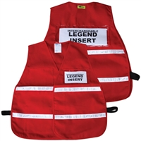 ICS Red Reflective Vest