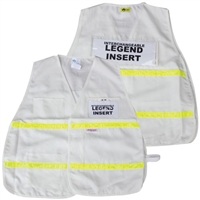 ICS White Cloth Safety Vest with Reflective Stripes