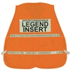 Mesh Incident Command Vest with Stripes - Hi-Vis Orange