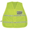 Mesh Incident Command Vest with Stripes Hi-Visibility Lime